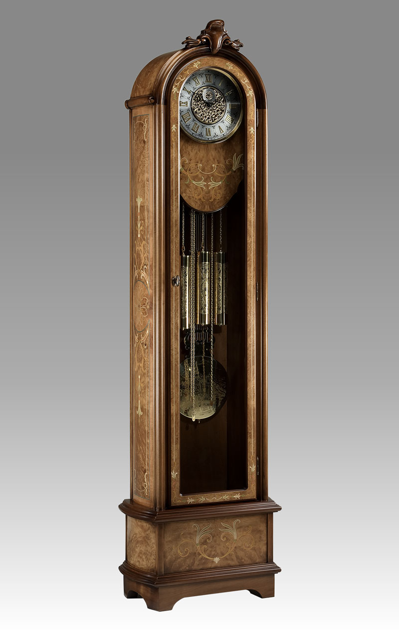 Grandfather clock Art.552/1 root with inlay
