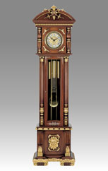 Grandfather Clock 510 walnut with gold and decoration