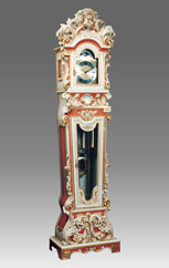 Grandfather Clock 512 lacquered and decoration with gold
