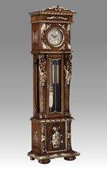 floor clock Art.515/1G walnut with gold and decoration