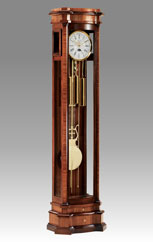 floor clock Art.559/1 walnut and zebrano