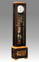 floor clock Art.562/1 ebony and zebrano