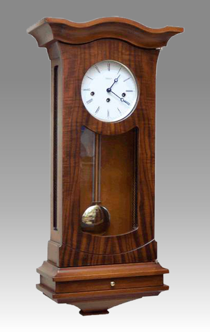 Regulator-Vienna- clock Art.427/1 walnut - Westminster melody on rod gong