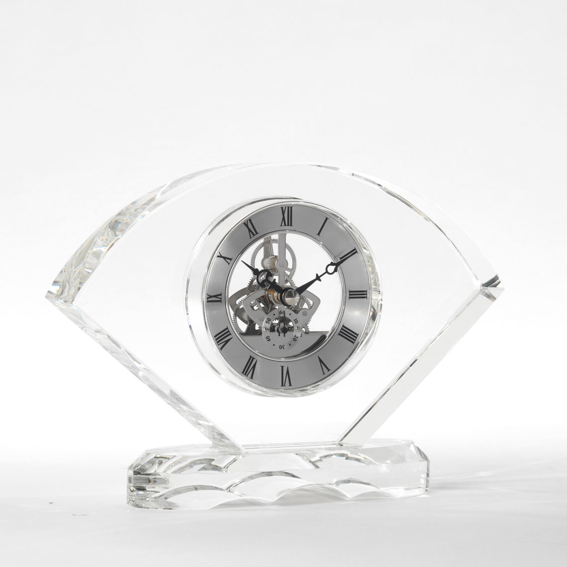 Crystal Desk Clock-Mantel Clock CS16-2, Crystal desk clock, quartz battery movement