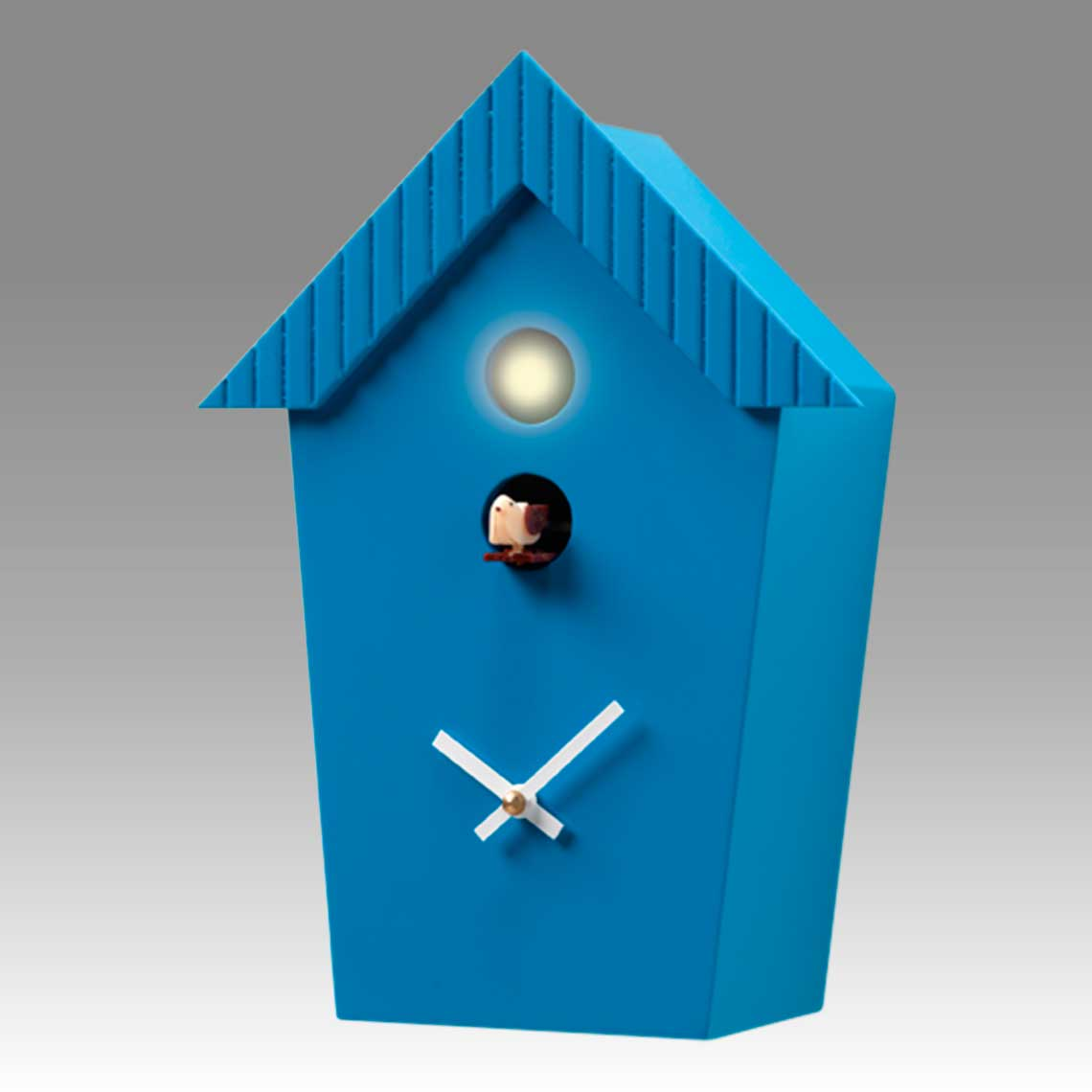 Modern cuckoo clock Art.cottage 2595 lacquered with acrilic color blue