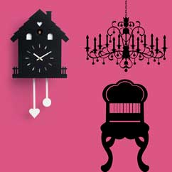 Contemporary Cuckoo Clock-Modern Cuckoo Clock, Art.heidi 2598, quartz battery movement, electronic movement with 12 melodies