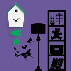 Contemporary Cuckoo Clock-Modern Cuckoo Clock, Art.tweet 2603, quartz battery movement, electronic movement with 12 melodies